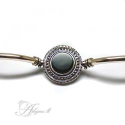 497 Silver bracelet with Onyx Ag 925