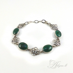1430 Silver bracelet with Malachite Ag 925