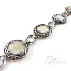 1104 Silver bracelet with Shell Ag 925