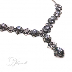 2005 Silver necklace with Zircon Ag 925