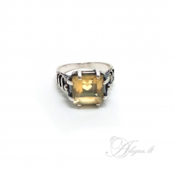 2015 Silver ring with Citrine Ag 925