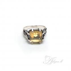 Sidabrinis žiedas su Citrinu Ag 925