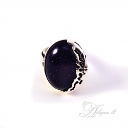 466 Sidabrinis žiedas su Saulės akmeniu st. Ag 925