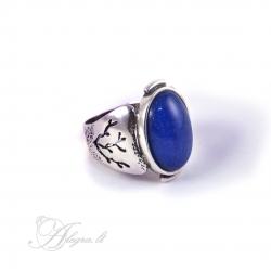 2016 Sidabrinis žiedas su Žadeitas Ag 925