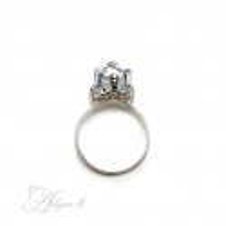 Sidabrinis žiedas su Swarovski kristalais Ag 925