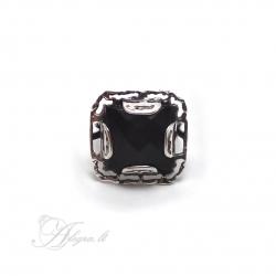521 Sidabrinis žiedas su Onikso i.m Ag 925