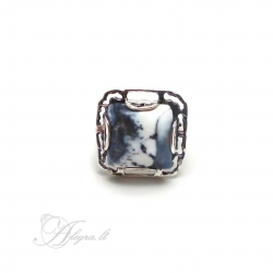 2019 Silver ring with Dendritic Agate Ag 925