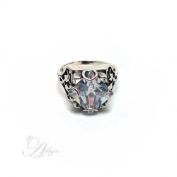 702 Silver ring with Zircon Ag 925