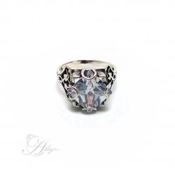 702 Sidabrinis žiedas su Cirkoniu i.m Ag 925