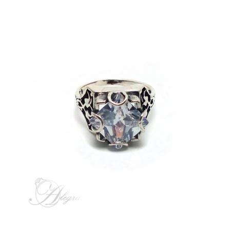 702 Sidabrinis žiedas su Cirkoniu Ag 925