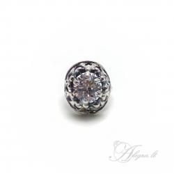 703 Sidabrinis žiedas su Cirkoniu i.m Ag 925