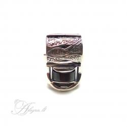 2021 Sidabrinis žiedas su Hematitu Ag 925