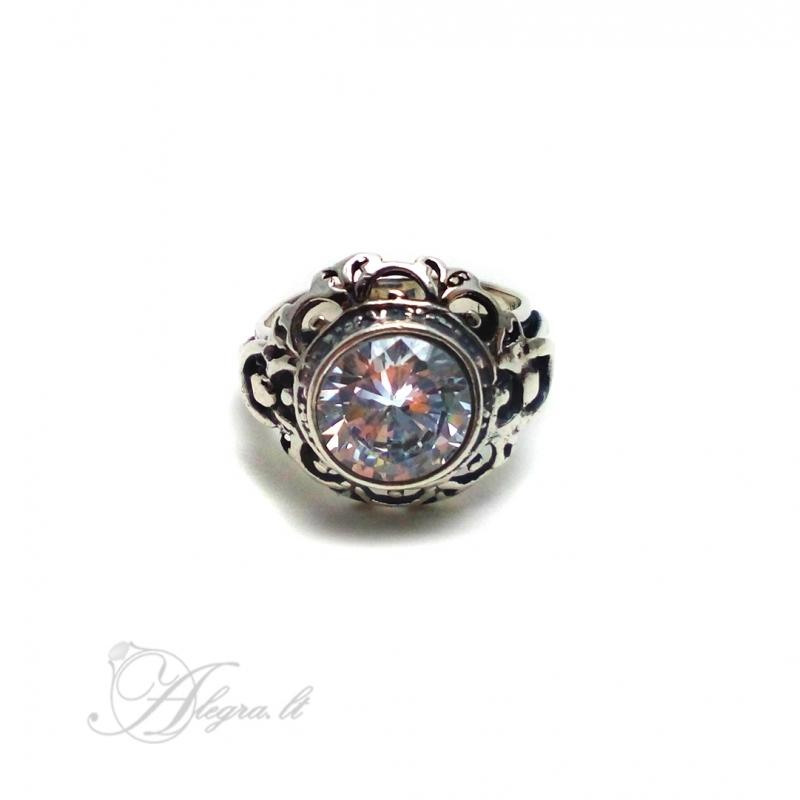 2022 Sidabrinis žiedas su Cirkoniu Ag 925