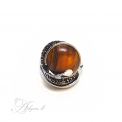 2024 Silver ring with Tiger's Eye Ag 925