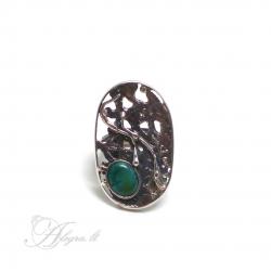 Vienetinis Sidabrinis žiedas su Turkiu Ag 925
