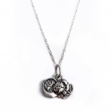 """Sidabrinis amuletas """"Rožė"""" [KM08]"""