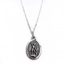 "Sidabrinis Medalionas ""Arkangelas Mykolas"" [KM03]"