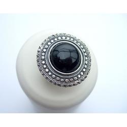 284 Sidabrinis žiedas su Oniksas Ag 925