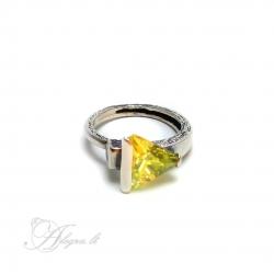 288 Sidabrinis žiedas su Cirkoniu Ag 925