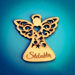 "Wooden magnet angel ""Stebuklų"" AM04"