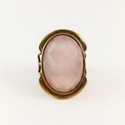 2211 Žalvarinis žiedas su Rožiniu Kvarcas