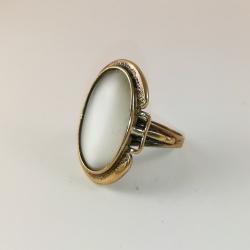 2215 Žalvarinis žiedas su Katės akim