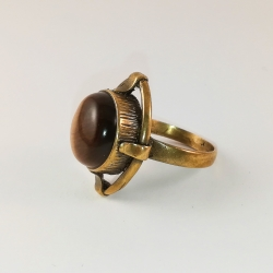 2217 Žalvarinis žiedas su Tigro akimi