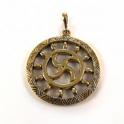 "2220 ""Kiauraraštis"" Brass pendant"