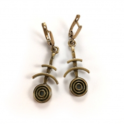2249 Brass earrings