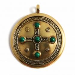 """2285 Žalvarinis didelis Medalionas """"Kabutis"""""""