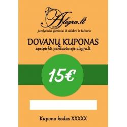 Dovanų Kuponas 15 eurų