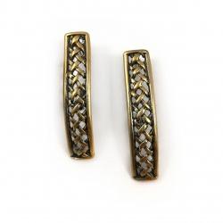 2336 Brass earrings