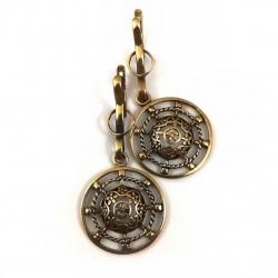 2337 Brass earrings