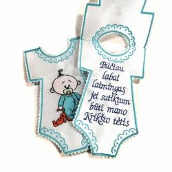 Pakvietimai Krikšto Tėveliui - Mėlynas