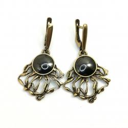 Žalvariniai auskarai su Perlu