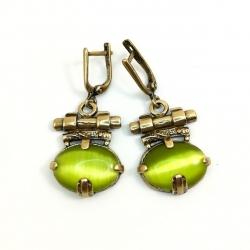 Žalvariniai auskarai su Hematitu