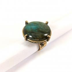2649 Žalvarinis žiedas su Labrodoritu