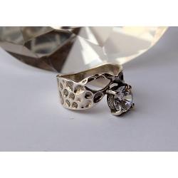 2665 Sidabrinis žiedas su Cirkoniu Ag 925