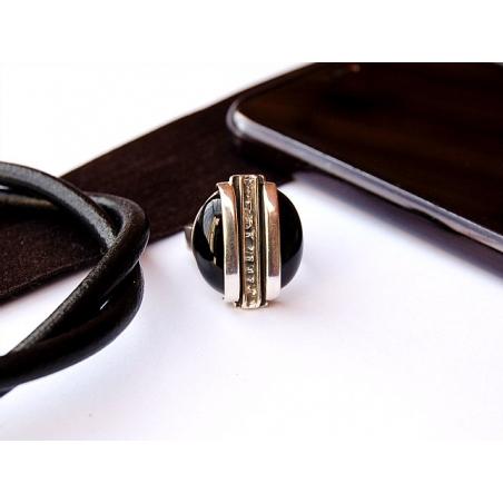 Sidabrinis žiedas su Oniksu Ag 925