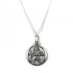 Sidabrinis medalionas Šv. Kristoforas KM18