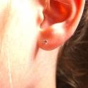 Aum2693 Auksiniai auskarai su cirkoniu + įpakavimu