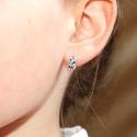 Sim2696 Sidabriniai auskarai su įpakavimu