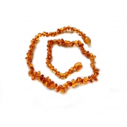 "Baltic amber teething necklace ""Caramel"""
