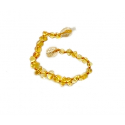 "Baltic amber teething bracelet ""Honey"""