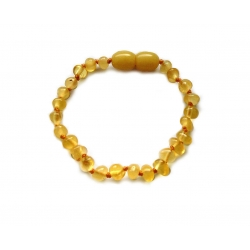 "Baltic amber teething bracelet ""Creme Brulee"""