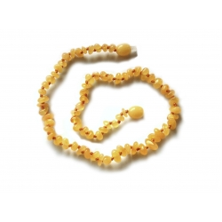 "Baltic amber teething necklace ""Creme Brulee"""