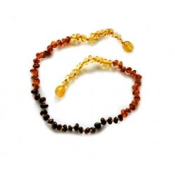 "Baltic amber teething necklace ""Honey rainbow"""