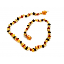 "Baltic amber teething necklace ""Colorful"""