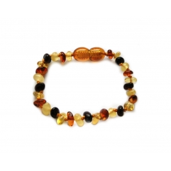 "Baltic amber teething bracelet ""Colorful"""