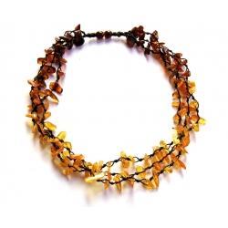 "Baltic amber necklace ""Honey rainbow"""